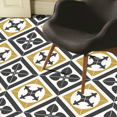 SALE! Vinyl Floor Tile Stickers - Orpheus in Black