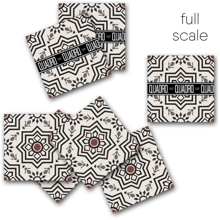 Kabbalah in Black Vinyl Tile Sticker