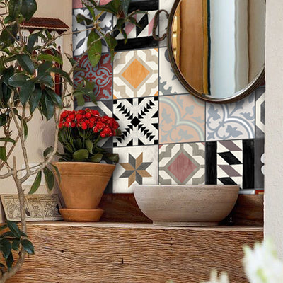 Patchwork Mix Vinyl Tile Sticker