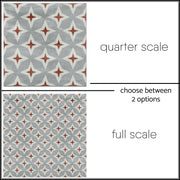 Tile Stickers Pack in Patchwork Mix Rose for Kitchen, Bathroom & Floors