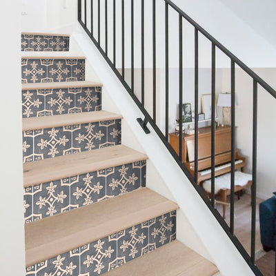 Palma in Fonte Grey Stair Riser Stickers