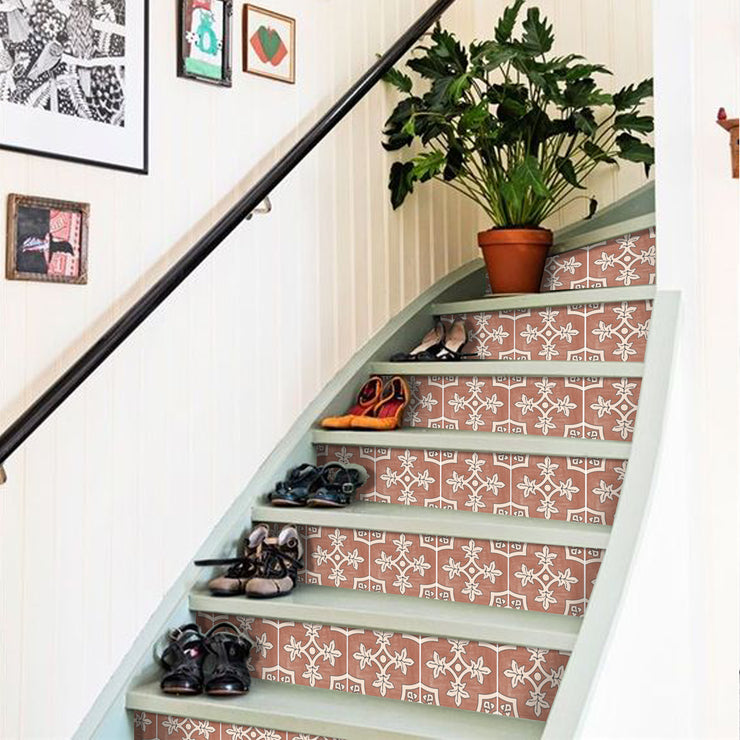 Palma in Red Earth Stair Riser Stickers