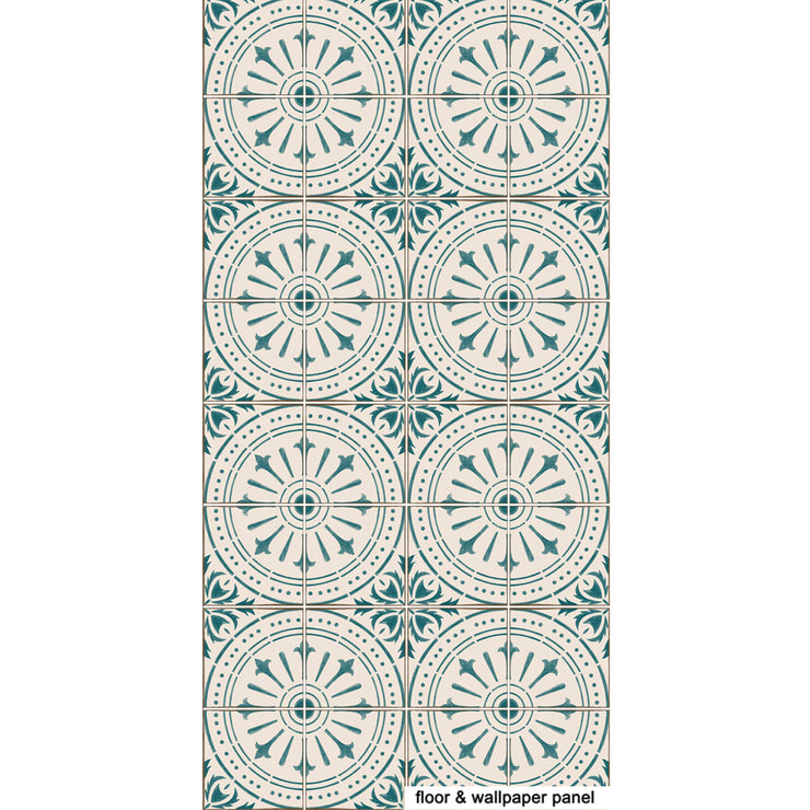 Chiave  in Teal Floor Sticker
