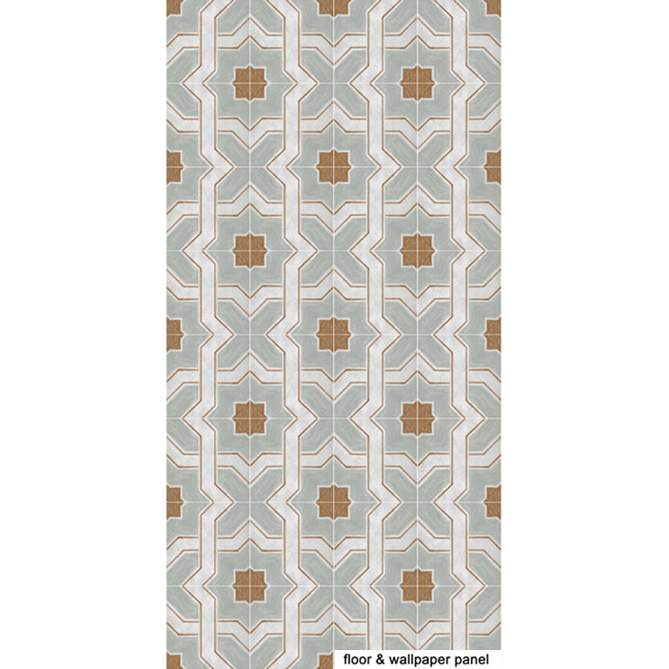Vinyl Tile Stickers Pack in Moroccan Lattice for Kitchen, Bathroom & Floors
