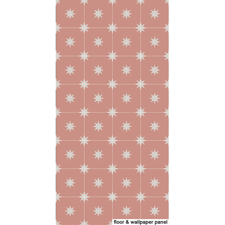 Removable Wallpaper Moroccan Starry Night Rose