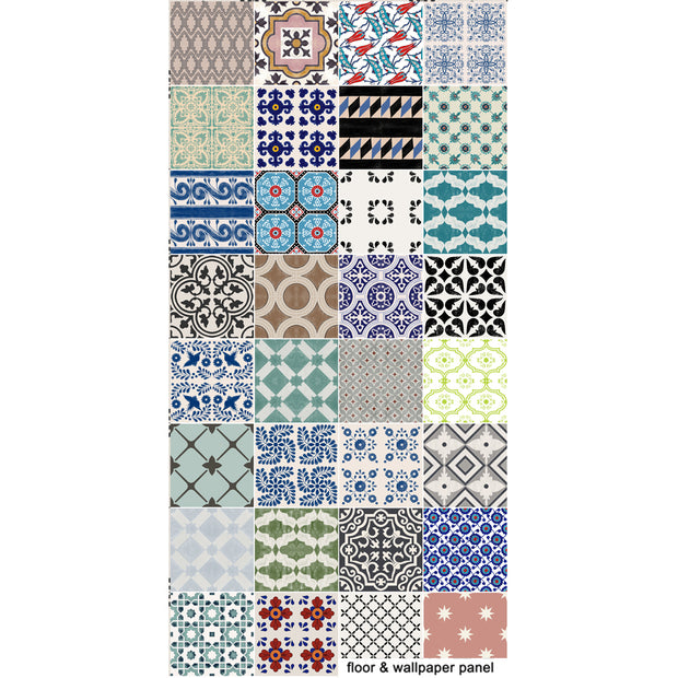 Eclectic Patchwork Mix Vinyl Tile Sticker