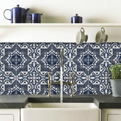 Provence Tile Sticker Pack in Indigo - Kitchen, Bathroom & Floors