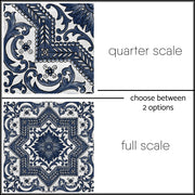 Vinyl Floor Tile Sticker - Provence in Indigo