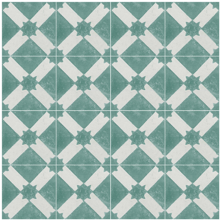 Riad in Emerald Vinyl Tile Sticker