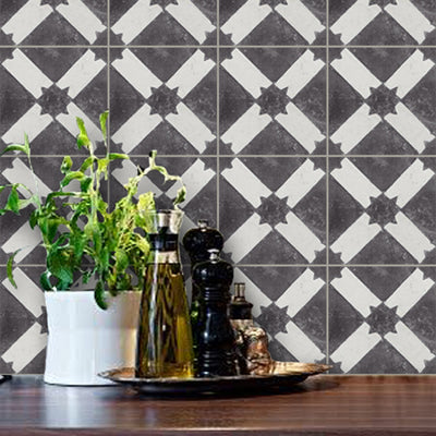 Removable Vinyl Wallpaper in Black Moroccan Riad