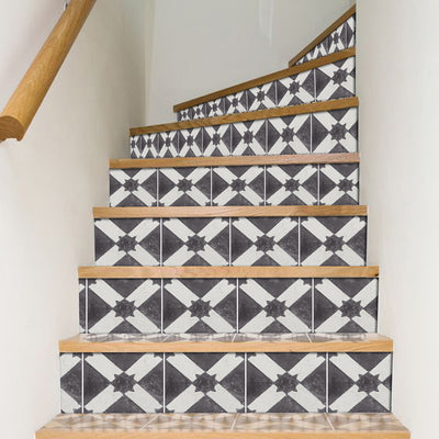 Riad in Black Stair Riser Stickers