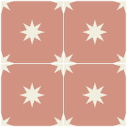 Vinyl Tile Stickers for Kitchen, Bathroom & Floors in Starry Night Rose