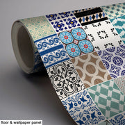 Patchwork Mix Eclectic Wallpaper