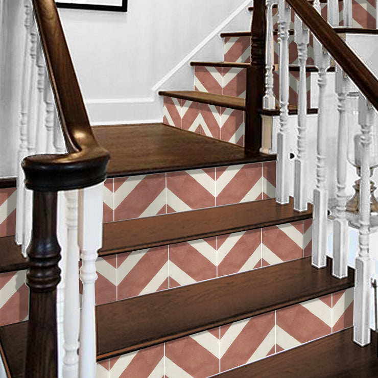 Salon in Red Earth Stair Riser Stickers