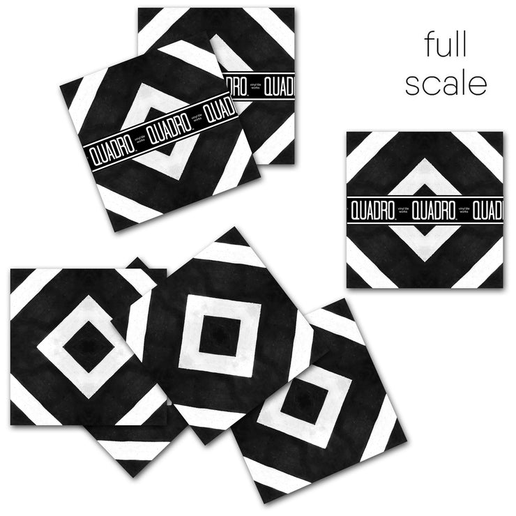 Salon in Black Vinyl Tile Sticker