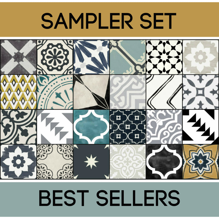 Quadrostyle 24 Best-Sellers Tile Sticker Sampler Set inc. Free Shipping