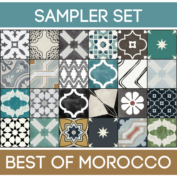 Quadrostyle 24 Best of Morocco Tile Sticker Sampler Set inc. Free Shipping