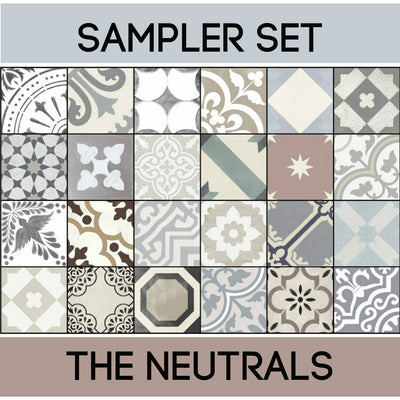 Quadrostyle 24 Neutral Favorites Tile Sticker Sampler Set inc. Free Shipping