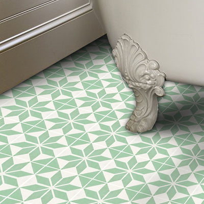 SALE! Vinyl Floor Tile Sticker Panel of 60 x 120 cm size  - Scandinavia Lichen