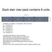 Shibori Stair Riser Stickers