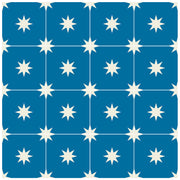Tile Sticker for Kitchen, Bathroom & Floors in Starry Night Vinyl Cobalt Blue