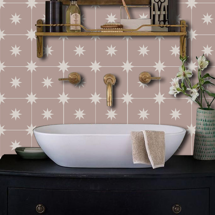 Removable Wallpaper in Moroccan Starry Night Putty