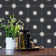 Removable Wallpaper Black Moroccan Starry Night