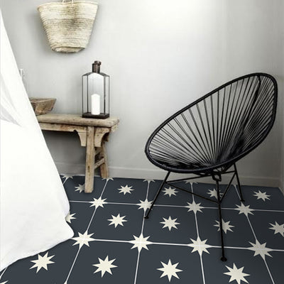 SALE! Vinyl Floor Tile Sticker Panel of 60 x 120 cm size  - Starry Night Black