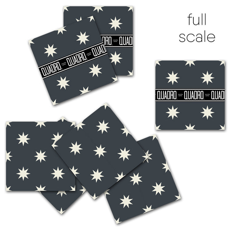 Starry in Night Black Vinyl Tile Sticker