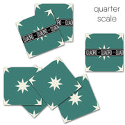 Starry Night in Emerald Vinyl Tile Sticker