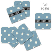 Tile Stickers for Kitchen, Bathroom & Floors in Starry Night Powder Blue