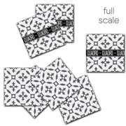 Vinyl Tile Stickers for Kitchen, Bathroom & Floors in Stella Charcoal