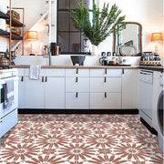 Stellino Vinyl Tile Sticker in terracotta