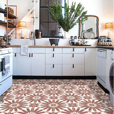 Stellino in Terracotta Floor Sticker