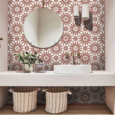 Stellino  in Terracotta Wallpaper