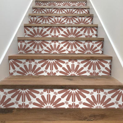Stellino in Terracotta Stair Riser Stickers