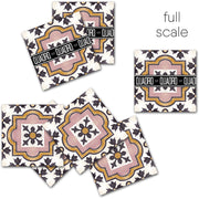 Vinyl Tile Stickers for Kitchen, Bathroom & Floors in Syracuse Rose