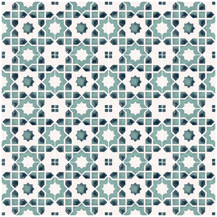 SALE! Vinyl Floor Tile Stickers Panel of 60 x 120 cm size - Moroccan Taza in Agate