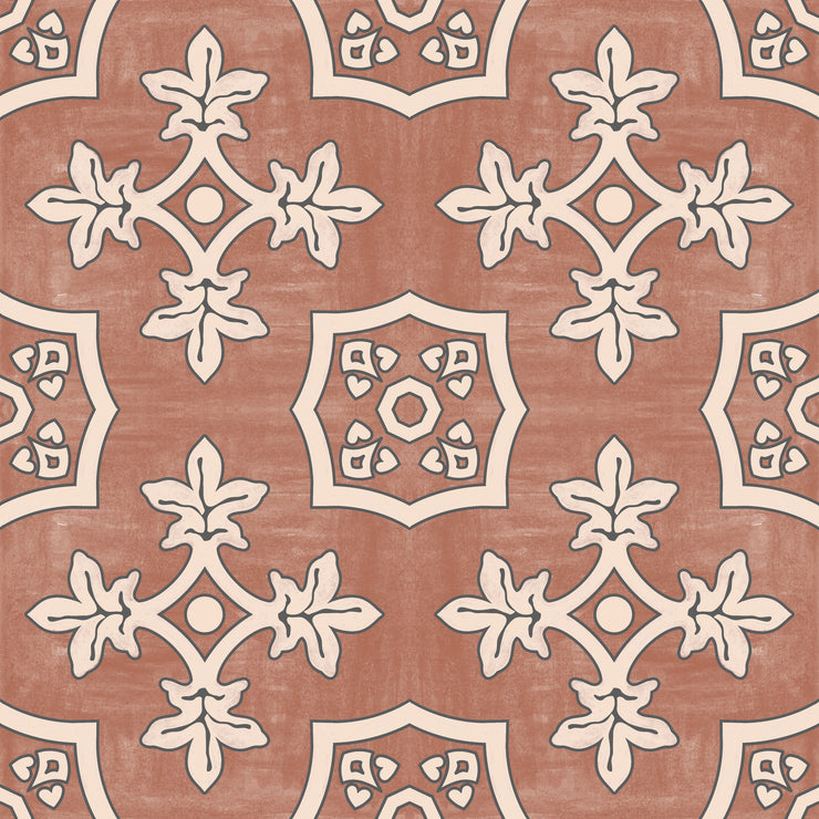Palma in Red Earth Floor Sticker