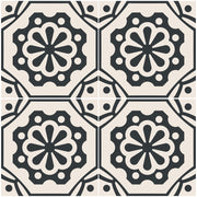 Vinyl Tile Stickers for Kitchen, Bathroom & Floors in Testino Black