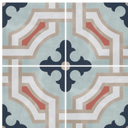 SALE! Vinyl Floor Tile Sticker Panel of 60 x 120 cm size - Traliccio in Chalk Blue