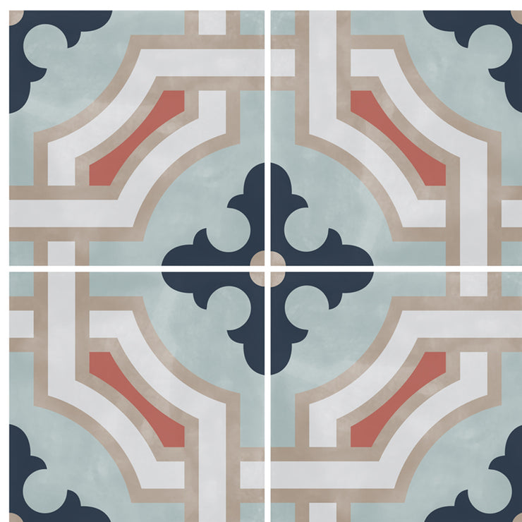 SALE! Vinyl Floor Tile Sticker - Traliccio in Chalk Blue
