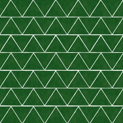 Triangles Floor Sticker in Emerald