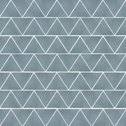 Triangles Floor Sticker in Slate Blue