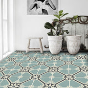 Vinyl Tile Sticker for Kitchen, Bathroom & Floors in Samsara Celadon
