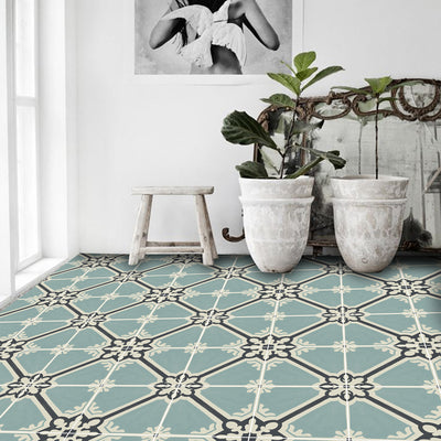 Samsara in Celadon Floor Sticker