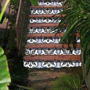 Stair Riser Stickers - Stair Riser Tile Decals - Verona in Grey