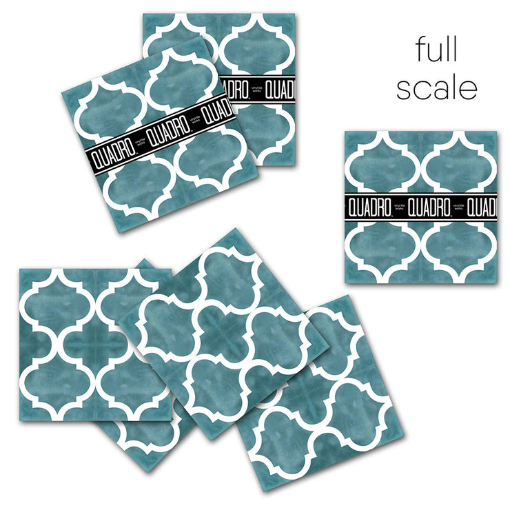 Vinyl Floor Tile Sticker - Zahara Baltic Blue Green