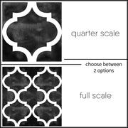 Vinyl Floor Tile Sticker - Zahara Black