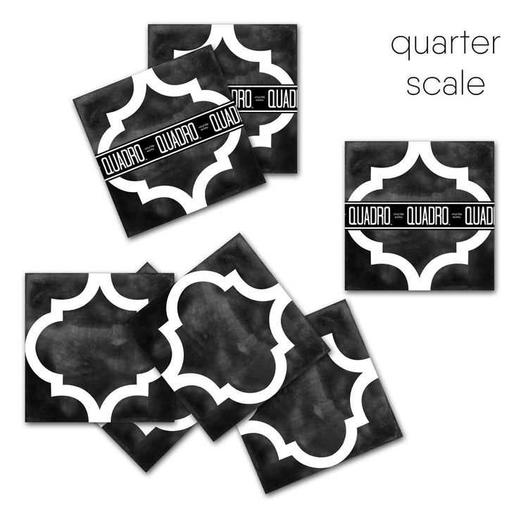 Zahara in Black Vinyl Tile Sticker